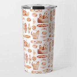 Watercolor Baguettes Travel Mug