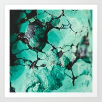 turquoise Art Prints featuring Turquoise  by Laura Ruth