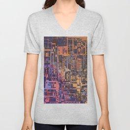 Where Are YOU -3 / Urban Density Unisex V-Neck