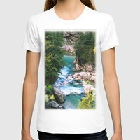 minerals T-shirts featuring The river in the mountains by Carlo Toffolo