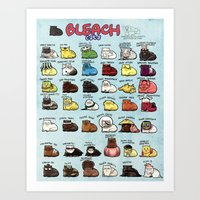 bleach Art Prints featuring BLEACH Cats by Maou Mao XD