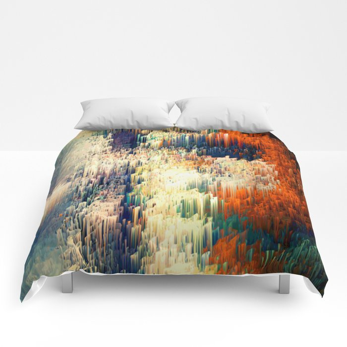 Red Pattern - Seminal Regression - Limited Edition 30 ex. Comforters