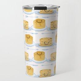 Cute vector blueberry pancake day breakfast illustration Travel Mug