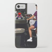 mario kart iPhone & iPod Cases featuring Retro Mario Kart by Woah Jonny