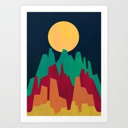 Rocky Landscape Art Print