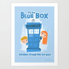 Fly the Blue Box! Art Print