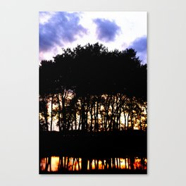 Prairie trees at Sunset Canvas Print