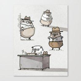 Ketch Fetchum, Pug Private Eye Canvas Print