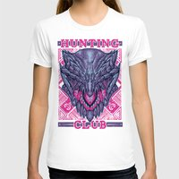 gore T-shirts featuring Hunting Club: Gore Magala by MeleeNinja