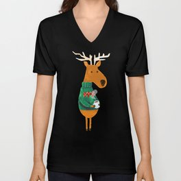 Hot Coffee Unisex V-Neck