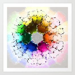 Abstract Color Wheel Art Print