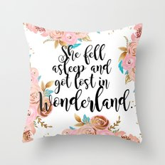 Lost in Wonderland Throw Pillow