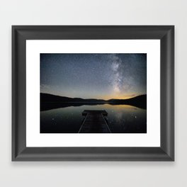 Milky Way in Truckee, CA Framed Art Print