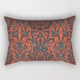 Aya damask orange Rectangular Pillow