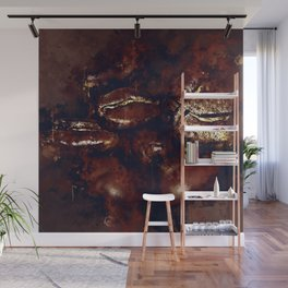 big coffee beans splatter watercolor Wall Mural