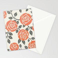 Retro roses Stationery Cards