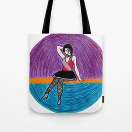 Ezri Dax Pinup Girl Tote Bag