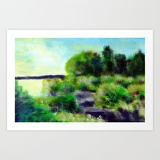 Painting of a pond Art Print
