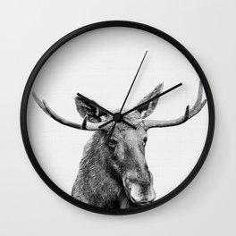 Moose print, Woodland nursery decor, nursery art, animal prints, Forest animals Wall Clock