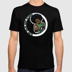 BRDN - Afro Skater Mens Fitted Tee Black MEDIUM