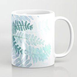 Blue Fern Watercolor Minimalist Coffee Mug
