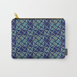 Patternsmith Triangles Blue Carry-All Pouch