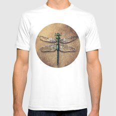Dragonfly  MEDIUM White Mens Fitted Tee