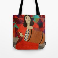 mercedes Tote Bags featuring Folklore by Design4u Studio