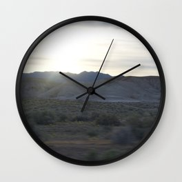 On The Road: Rare Lush Greenery At Sundown In Death Valley Spring Bloom 2016 Wall Clock