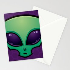 Alien Head Icon Stationery Cards