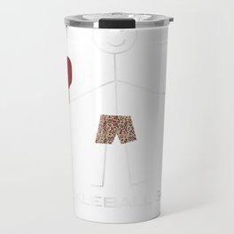 Funny Pickleball T-Shirt for Men, Pickleball Gifts for Boys Travel Mug