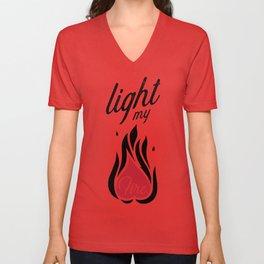Light My Fire Unisex V-Neck