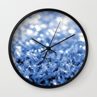 sparkle Wall Clocks featuring Sparkle by Brian Raggatt