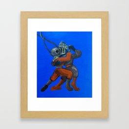 Two Divers, Dancing Framed Art Print