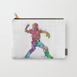 Baseball Softball Catcher 3 Art Sports Poster Carry-All Pouch