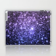 Galaxy Sparkle Stars Purple Periwinkle Blue Laptop & iPad Skin