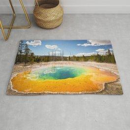 Yellowstone National Park Morning Glory Pool Wyoming Landscape Rug