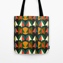 Retro Christmas trees Tote Bag