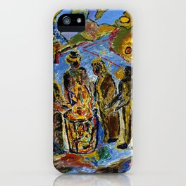 African American Masterpiece 'Can Fire in the Park' by Beauford Delaney iPhone Case