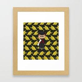 Cute Little Graduation Boy Framed Art Print