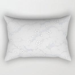 Kumori Nochi Sakura: Gray Rectangular Pillow