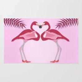 Flamingo – illustration in vivid colors Rug