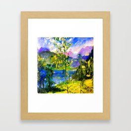 Lovis Corinth October at Walchensee Framed Art Print