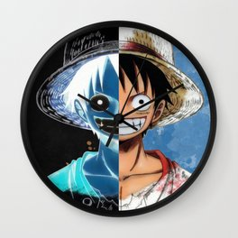 """Luffy Smile """"Two Face"""" Wall Clock"""