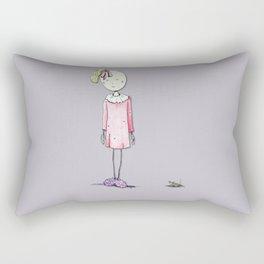 Worried Child Rectangular Pillow