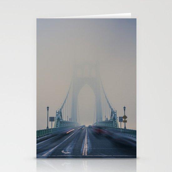 St. Johns Bridge Fog Stationery Cards