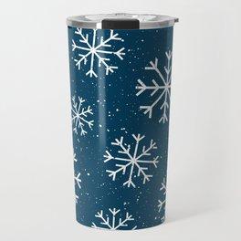 Let It Snow Winter Holiday Pattern Travel Mug