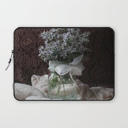 Wild Asters in a Mason Jar Laptop Sleeve
