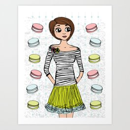 J'aime Les Macarons Art Print