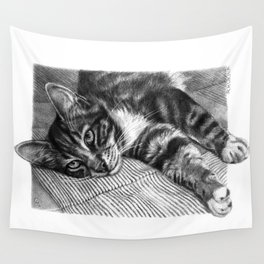 Resting Kitty G064 Wall Tapestry